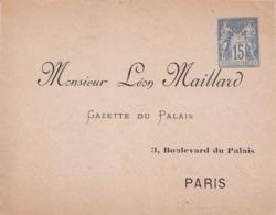 Enveloppe Sage 15 C Bleu J62 Repiquage Maillard Neuve - Enveloppes Repiquages (avant 1995)
