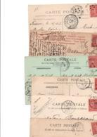 TIMBRE TYPE SEMEUSE LIGNEE....10c ROSE........VOIR DETAIL...LOT DE 100 SUR CPA.....VOIR SCAN......LOT 1 - 1903-60 Semeuse Lignée