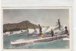 Honoloulou - Waikiki - Surf Riding - 1940       (A-121-190412) - Skateboard