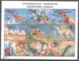 Georgie - Georgia 1998 Yvert 222E-222N, Prehistoric Fauna - MNH - Georgia