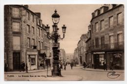 - CPA FLERS (61) - La Grande Rue Et Les Cinq Becs - Editions FLEURY - - Flers