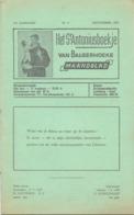 Tijdschrift - Devotie , Godsdienst - Het St Antoniusboekje Van Balgerhoeke - September 1957 - Non Classés