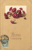 Illustrateur Bonne Année Champignons Gauffrée RV - Champignons