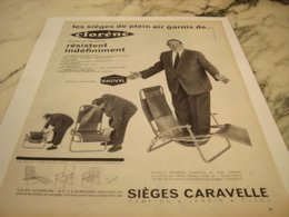 ANCIENNE  PUBLICITE SIEGES CARAVELLE DE  CLORENE 1960 - Unclassified