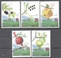 Georgie - Georgia 2003 Yvert 332-336, Flora. Fruits - MNH - Georgia