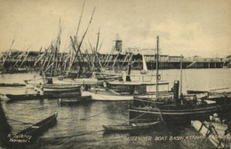 Pakistan, KARACHI, Keamari, Passenger Boat Basin (1910s) R. Jalibhoy Postcard - Pakistan