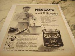 ANCIENNE  PUBLICITE LE MATIN UN CAFE DE NESCAFE  1960 - Posters