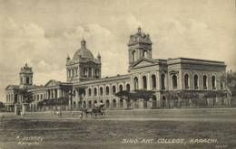 Pakistan, KARACHI, Sind Art College (1910s) R. Jalibhoy Postcard - Pakistán