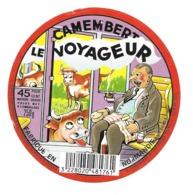 ETIQUETTE De FROMAGE.CAMEMBERT Fabriqué En NORMANDIE..Le Voyageur - Kaas