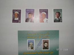Yemen Rep. Authors 4 Stamps+ 1 Souvenir Sheet 2002-complete Set +sheet MNH- SKRILL PAYMENT ONLY - Yemen