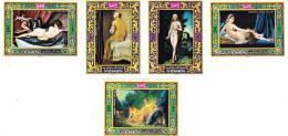 Yemen Kingdom, Nude Painting Complete Set 5 V. IMPERFORATED-Paintings- Scarce-MNH- - Yemen