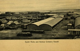 Pakistan, KARACHI, Oyster Rocks, Harbour Entrance (1910s) R. Motumal Postcard - Pakistán