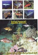 Yemen Rep.2007 FISH 6 C. + 1..sh/MNH Compl.set Nice Scarce Topical - Red. Price - - Yemen