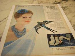 ANCIENNE PUBLICITE PEAU SENSIBLES HARRIET HUBBARD AYER 1960 - Perfume & Beauty