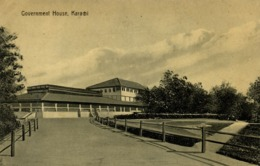 Pakistan, KARACHI, Government House (1910s) R. Motumal Postcard - Pakistan