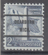 USA Precancel Vorausentwertung Preo, Bureau Michigan, Dearborn 1034-71 - Verenigde Staten