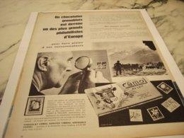 ANCIENNE PUBLICITE LA PHILATELISTE  CHOCOLAT CEMOI 1960 - Posters
