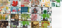 STARBUCKS CARDS - LOT 21 DIFFERENT CARDS - AS IN PIC RR - Herkunft Unbekannt