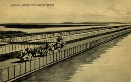 Pakistan, KARACHI, Napier Mole And Ry Bridge (1910s) R. Motumal Postcard - Pakistan