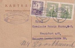 POLOGNE 1925 CARTE DE SOSNOWIEC POUR FRANKFURT - 1919-1939 Republic