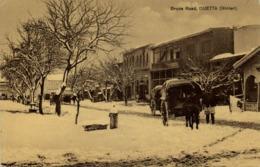 Pakistan, QUETTA, Bruce Road, Horse Carts (1910s) K.C. Marrott Postcard - Pakistan