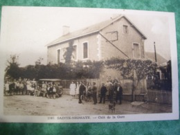 TRÈS RARE - STE (SAINTE) NEOMAYE -  79 - CAFÉ DE LA GARE - - Sonstige Gemeinden
