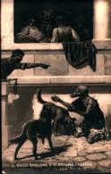 7381) CARTOLINA CON IL RICCO EPULONE E IL POVERO LAZZARO-VIAGGIATA - Quadri, Vetrate E Statue