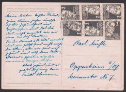 Käthe Kollwitz 2 Ofg. (6) Portogenau Auf Karte DDR 327 MWSt. Görlitz 29.12.54 N. Oppenheim - Briefe U. Dokumente