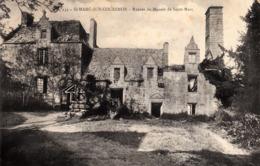 Thematiques 35 Ille Et Vilaine St Marc Sur Couesnon Ruines Du Manoir De Saint Marc Timbré Cachet 1916 - Francia