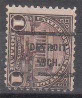 USA Precancel Vorausentwertung Preo, Locals Michigan, Detroit 571-236 - United States