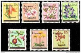 Burundi 0001/7** Fleurs Surchargés - MNH - - Burundi