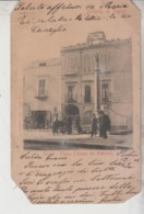 NAPOLI  RESINA PIAZZA COLONNA DEL PLEBISCITO 1907 CARTOLINA ORIGINALE DIFETTO ANGOLI - Napoli