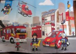 PLAYMOBIL POSTER POMPIERE FIREMAN DEAGOSTINI NEW - Playmobil