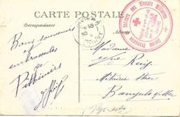 45-cachet Hôpital Aux N°45 De Pithiviers-Annexe Du Chateau De Joinville Sur CP De 1915-beau Cachet Rare - WW I