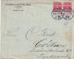 DANEMARK 1913 LETTRE DE AALBORG - Brieven En Documenten