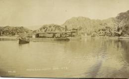 Pakistan, KALABAGH, Panorama And Ferry Boat (1910s) RPPC Postcard - Pakistan