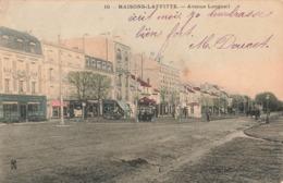 78 Maisons Laffitte Avenue De Longueil Cpa Carte Animée Colorisée Cachet 1904 - Maisons-Laffitte
