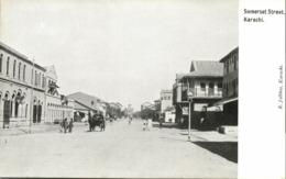 Pakistan, KARACHI, Somerset Street (1910s) R. Jalbhoy Postcard - Pakistan