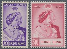 Hongkong: 1948, Silver Wedding Complete Set Of Two, Mint Hinged, SG. £ 275 - Hong Kong (...-1997)