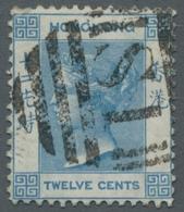 Hongkong - Treaty Ports: 1880-1900 (c.) TREATY PORTS Cancellations, Nice Lot Of 24 Stamps Showing A - Hong Kong (...-1997)