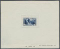 "Libanon: 1937, 7.50pi. Blue, Epreuve De Luxe (few Unobstrusive Marks) With Imprint ""Atelier De Fabri - Lebanon"