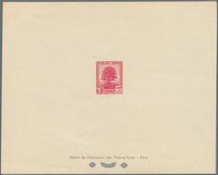 Libanon: 1937/1938, Definitives, 0.10pi., 0.50pi., 3pi., 4pi., 4.50pi., 10pi., 15pi., Seven Epreuve - Lebanon