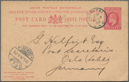 Oranjefreistaat: 1904 Commercially Used Postal Stationery Doublecard With Attached Reply Part From S - África Del Sur (...-1961)