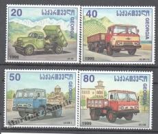 Georgie - Georgia 1999 Yvert 248-51, Trucks - MNH - Georgia
