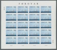 "Dänemark - Färöer: 1983, ""steamships Imperforated"" Each As Mint Miniature Sheet Of 20 Values In Perf - Islas Faeroes"