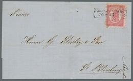 """Finnland: 1860, """"Wappen""""-Freimarke 10 Kopeken Rosakarmin Mit Durchstich B (kurze Zungen) Entwertet M - Finland"""