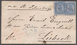 Finnland: 1874, Zwei Exemplare 20 P. Blau Mit Guter Zähnung Auf Brief Von Uleaborg 29/4 (blauer Aufg - Finland