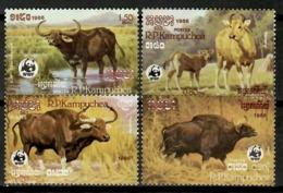 Cambodia 1986 Camboya /  Mammals WWF Buffalo MNH Mamíferos Säugetiere / Cu14001  5-24 - Briefmarken