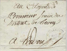 """An 4 - Lettre De 68 / LYON  18 X 10 Mm  """" Les Administrateurs Provisoires  Du Département Du Rhône """"  Signé - Postmark Collection (Covers)"""