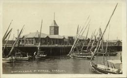 Pakistan, KARACHI, Kemari, Boat Harbour (1920s) RPPC Postcard - Pakistan